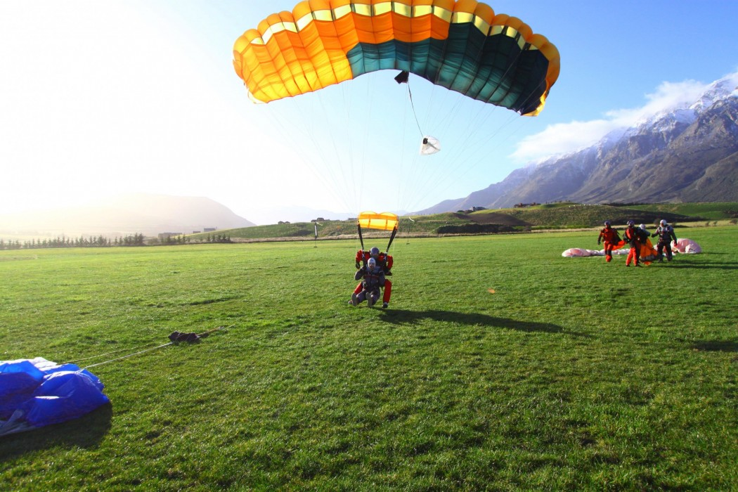 Atterrissage Parachute