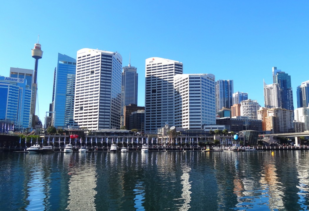 Skyline Sydney Port