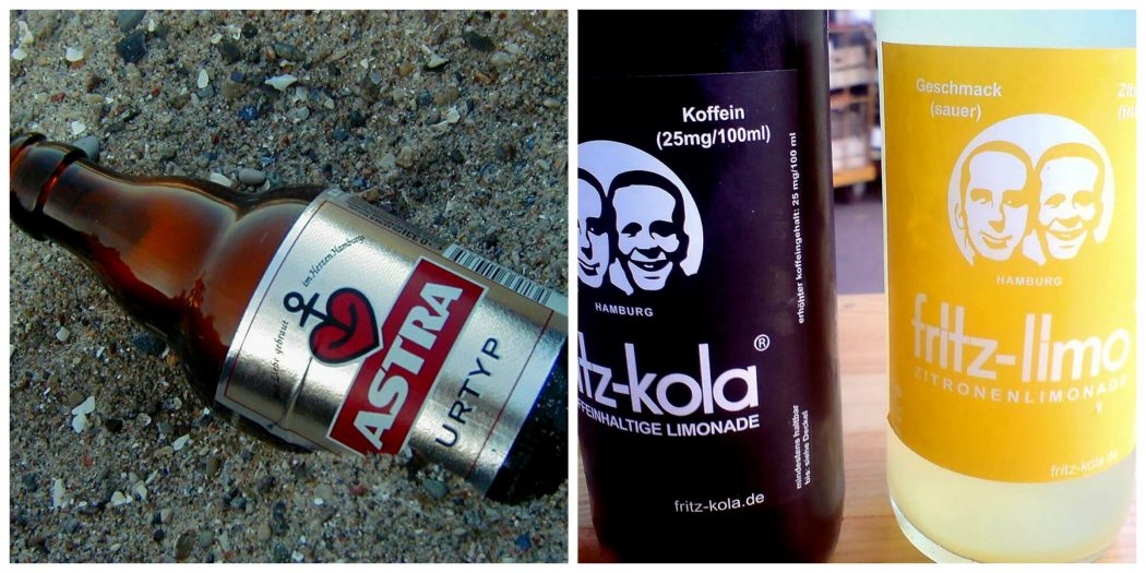 collage fritz cola astra bier